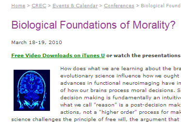 Conference: Biological Foundations of Morality