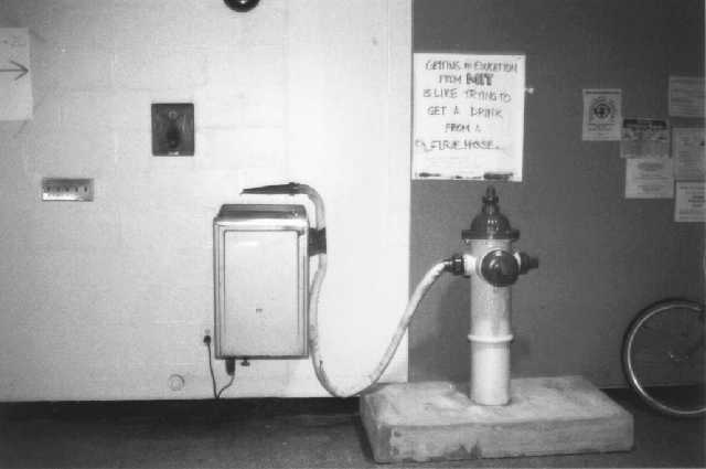 Firehose Drinking Fountain