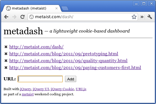 Code Review: metadash